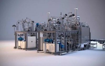 Renders 3D Maquinaria Industrial Liofilizador